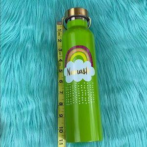 Hallmark Dining - Hallmark Green Rainbow Namaste Water Bottle
